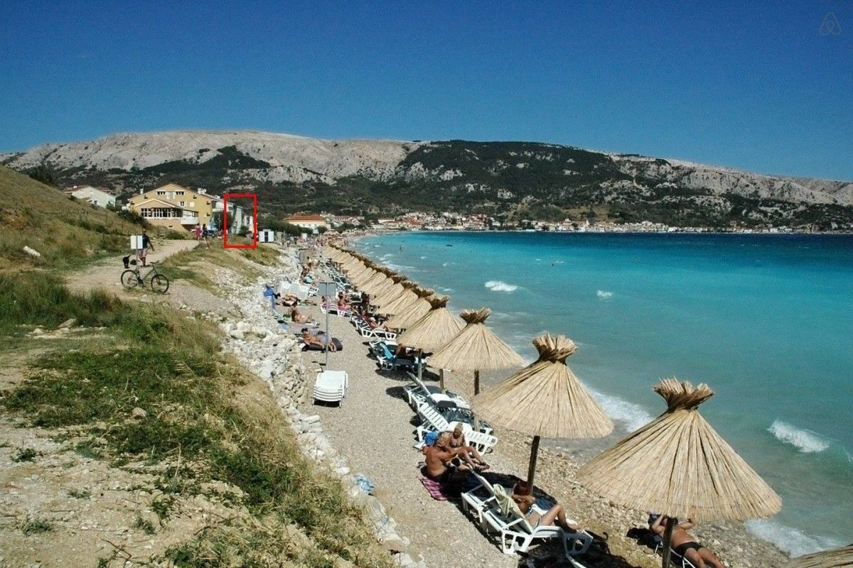 Apartments, Baška, Island of Krk - Seafront apartment for 8 persons in Baška-Krk