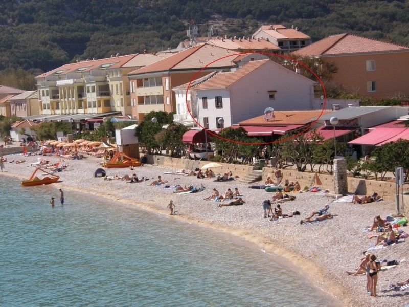 Apartments Island of Krk - Apartment on the beach Baška