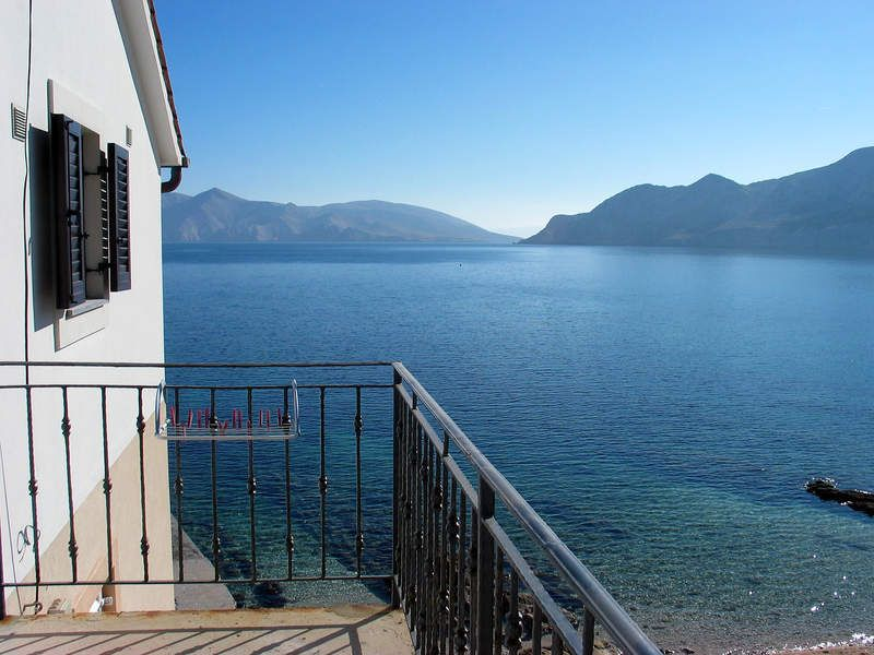 Apartments, Baška, Island of Krk - Elegant sea front apartment in Baska