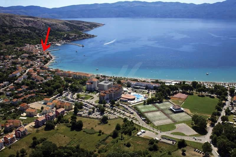 Studio apartment in Baška on Krk island