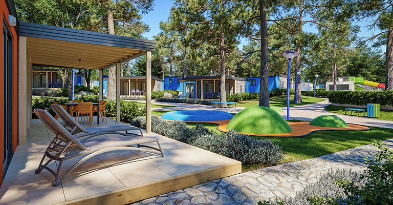Mobile Homes, Tar-Vabriga, Poreč region - Camping Resort Lanterna - Maro Premium Mobile Homes