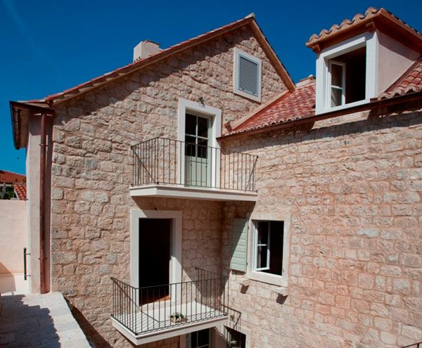 Stone villa in the centre of historical town Omiš