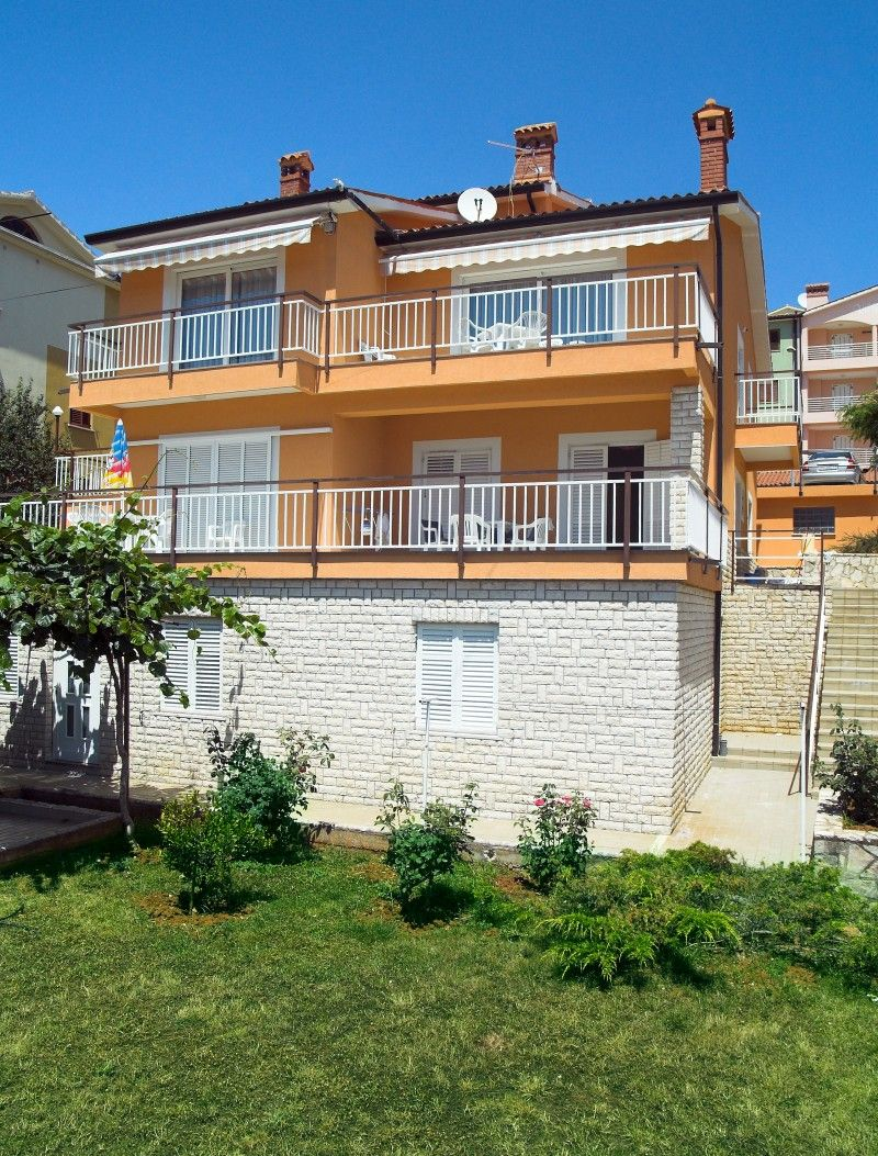 Family apartments Rabac with panorama sea view
