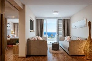 Suite famigliare junior con balcone, vista mare - Family Hotel