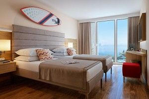 Family teens room with balcony, seaview - Family Hotel