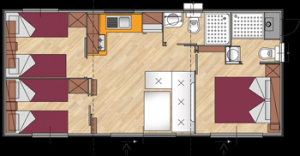 Mobile home for 7 persons PREMIUM / 3 bedrooms - 35m2