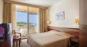 Superior double room with superior balcony and sea view