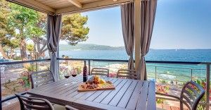 Mobile home for 4-6 persons Lungomare Preminum with sea view